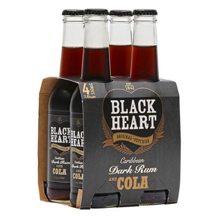 Blackheart darkcola and rum 4pk Blackheart darkcola and rum 4pk