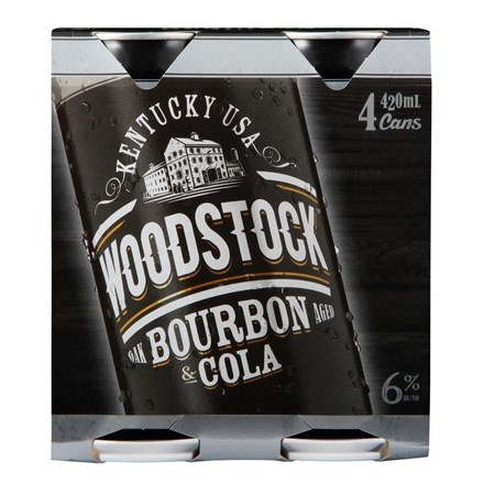 WOODSTOCK 6% 6X4PK 420ML CANS WOODSTOCK 6% 6X4PK 420ML CANS