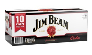JIM BEAM 10PK CAN ZERO & COLA JIM BEAM 10 PK CAN ZERO COLA