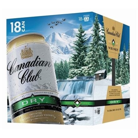 CANADIAN CLUB DRY 18 PK CAN CANADIAN CLUB DRY 18 PK CAN